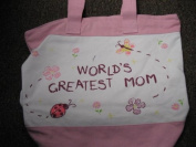 World's Greatest Mom Canvas Tote