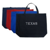 Large Navy Texas Cities Tote Bag - Created Using the Most Popular Cities in Texas