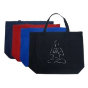 Large Red Yoga Tote Bag - Created using popular Yoga poses