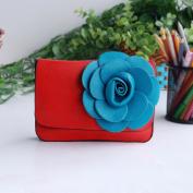 [Sunny Romantic] Flower Leatherette Clutch Shoulder Bag Clutch Casual Purse