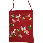 Embroidered Bag - Birds - Magenta CAT# PB - 2M