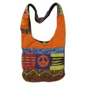 Hippie Hobo Bohemian Ripped Razor Cut Patch Sling Crossbody Monk Twist Tie Bag Purse Nepal