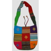 ~Patch Heavy Canvas Boho Shoulder Bag India~