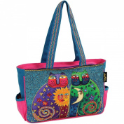 Medium Tote W/Zipper Top 38.1cm X4-1.3cm X25.4cm -Celestial Felines