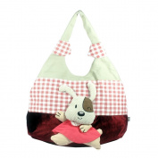 [Naughty Rabbit] 100% Cotton Canvas Shoulder Bag / Swingpack / Travel Bag