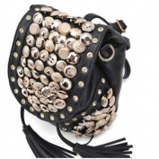 Rivet Button Handbag 7.6cm 1 Shoulder Bag Backpack Handbags