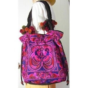 Hmong Tribal Ethnic Thai Indian Vintage Style Embroidered Hobo Shoulder Bag