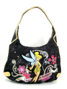 Disney Tinker Bell Canvas Hobo Handbag - Tattoo