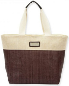 Woven Canvas Shoulder Tote