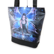 "Cabas bag ""Fairy Dreams"" blue black."