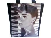 Audrey Hepburn Retro Signature Large Tote Shoulder Bag Purse Handbag