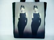 Audrey Hepburn Rare Retro Design Tote Shoulder Bag Purse Handbag
