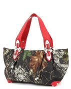 Mossy Oak Red Camouflage Large Hobo Handbag