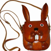 Lovely Rabbit Design, Genuine Cowhide Leather Shoulder/crossbody Bag, an Unique and Collectible Small Satchel.