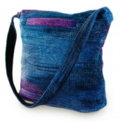 Bamboo chenille shoulder bag, 'Magical Moon'