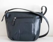 Genuine Leather HOBO Bag, Shoulder Bag, BUCKET Bag in NAVY Blue, Rare