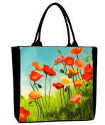 Meadow Suite Large Tote, Art Bag, Eco Bag By Artist Shirley Novak