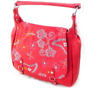 "Bag ""Fuchsia"" red bohemian."