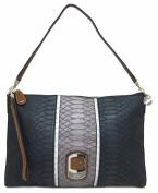Guess Tisbury Small Top Zip Shoulder Bag, Black Multi
