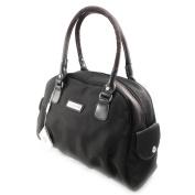 """Canvas bag """"Jacques Esterel"""" brown."""