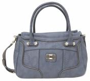 Guess Jemma Large Satchel Bag, Indigo Multi