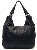 Floto Black Siena Bag in Italian Nappa Leather - handbag, shoulder bag, hobo