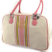 "'french touch' bag ""Ted Lapidus"" pink beige."
