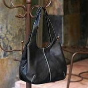 NOVICA Leather shoulder bag, 'Urban Legend'