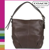 Coach Leather Duffle Purse Convertible Crossbody Bag Mahogany 15064