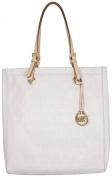 Michael Kors Jet Set Monogram Tote Bag in Vanilla