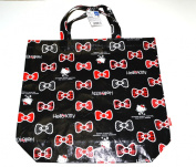 Black Hello Kitty Polyester Tote Bag - Medium Hello Kitty Shopping Bag