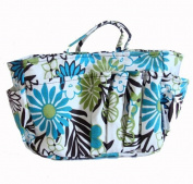 The Plaid Purse Bag Organizer - Spring Flowers in Cotton