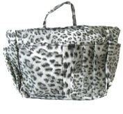 The Plaid Purse Bag Organizer - Black Leopard Print