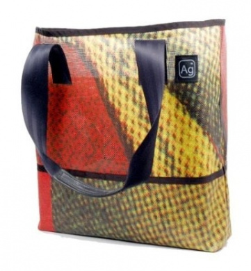 Alchemy Goods Ad Bag, Made from Recycled Billboards (Colors and Patterns Will Vary)