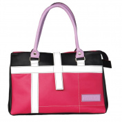 [Loveliness Memory] Onitiva Leatherette Double Handle Satchel Bag Handbag Purse