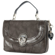 Guess Cool Classic Med Flap Bag Brown