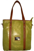 Women's Valentina Large Genuine Leather Tote Handbag