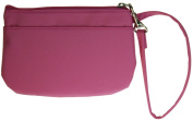Buxton Wristlet for Women with Removable ID Carrier Pink