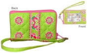 New Stephanie Dawn Handbag ID Wristlet - Gigi Green 10024-009