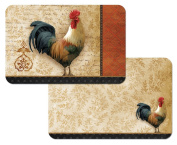 Counter Art - Signature Rooster - Reversible Placemats - Set of 4