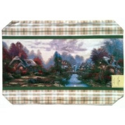 THOMAS KINKADE Placemat COTTAGE COLLECTION 35.6cm Wide x 50.8cm Long