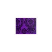 Taffeta Flocking Damask Table Runner. 33cm X 228.6cm - Purple