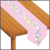 Easter Eggs Fabric Table Runner Party Accessory (1 count)