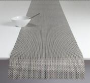 Chilewich Basketweave Table Runner, Aluminium