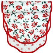 152.4cm Poinsettia and Snowflakes Table Runner