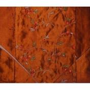 Blossom Flower Silk Table Runner - Brown