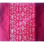 Chinese Calligraphy Silk Table Runner - Bordeaux
