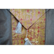 Chinese Calligraphy Silk Table Runner E