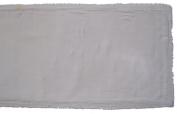 Gitika Goyal Home Khadi Chikanwork 88.9cm Runner Border Design, White
