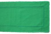 Gitika Goyal Home Khadi Chikanwork 88.9cm Runner Rice design, Green